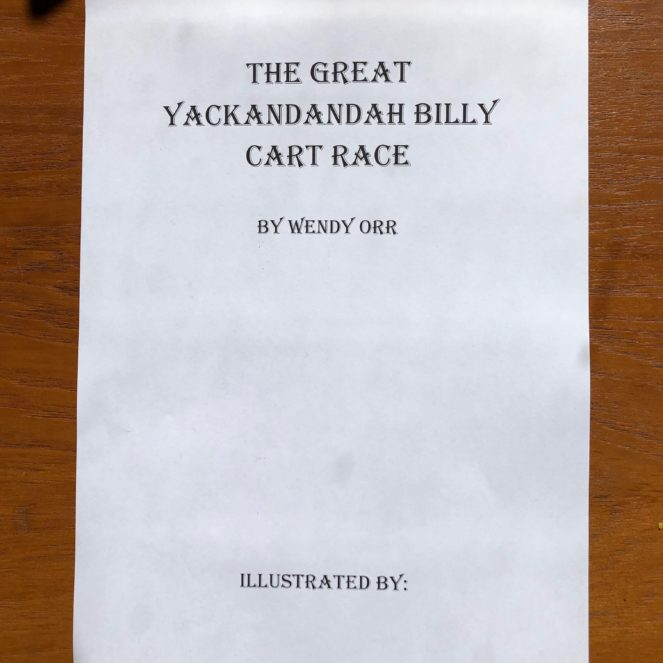 New life for an old book: Illustrate Your Own Great Yackandandah Billy Cart Race